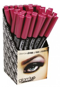 display crayons  lvres Glam'Up